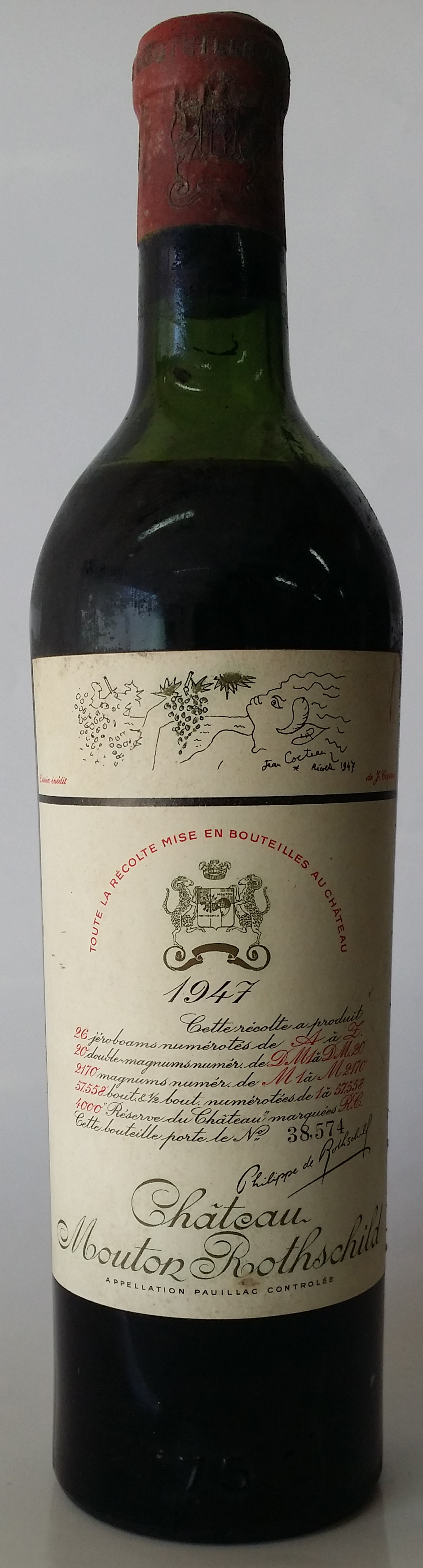 1947 Baron Philippe de Rothschild Chateau Mouton Rothschild