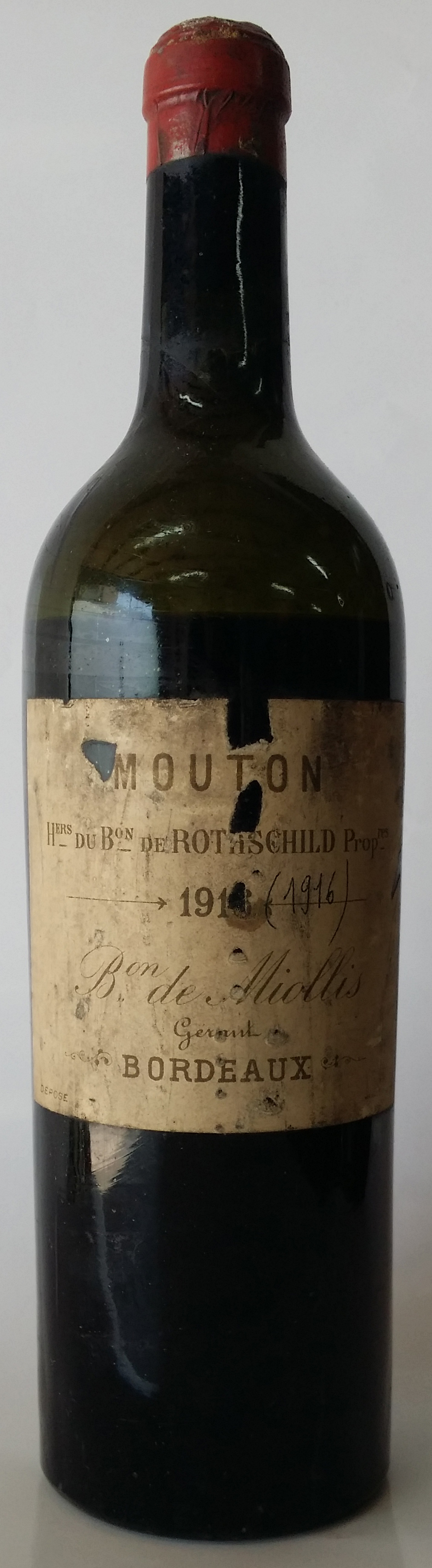 1916 Baron Philippe de Rothschild Chateau Mouton Rothschild