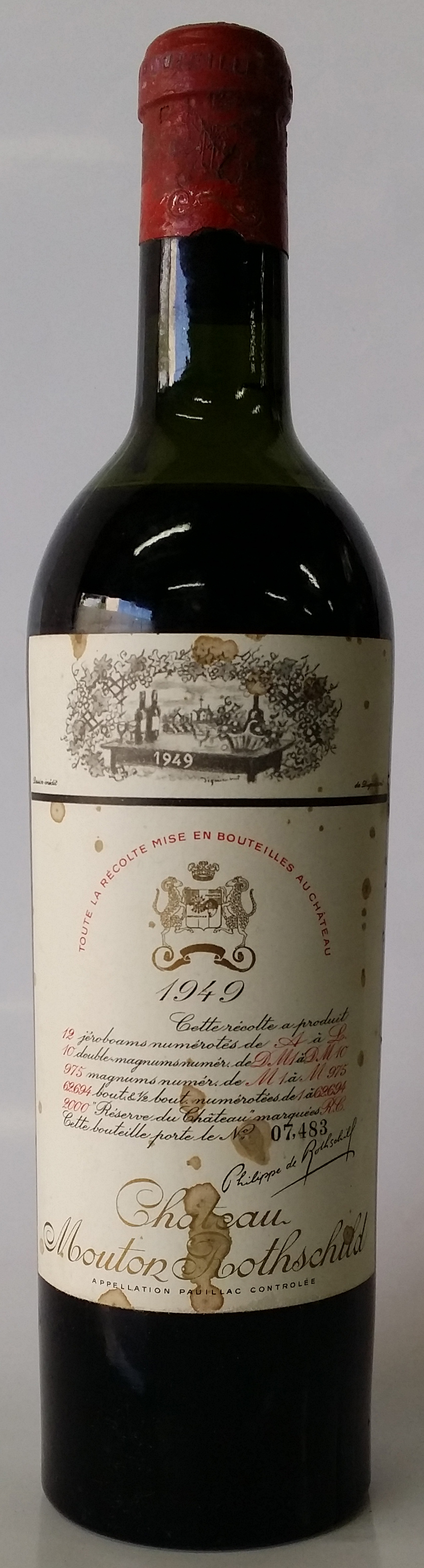 1949 Baron Philippe de Rothschild Chateau Mouton Rothschild