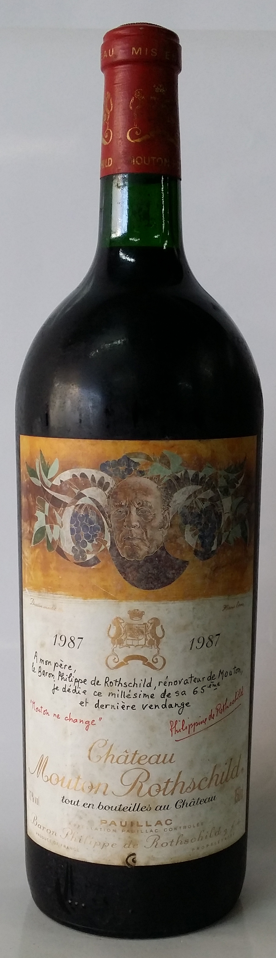 1987 Magnum Baron Philippe Rothschild Chateau Mouton Rothschild