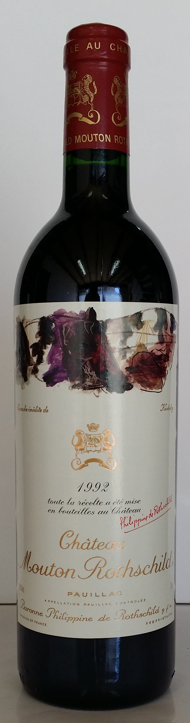 1992 Baron Philippe de Rothschild Chateau Mouton Rothschild